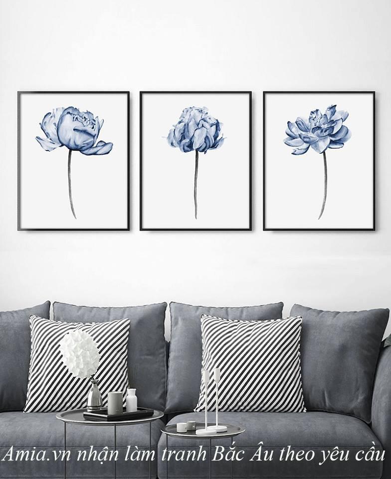 tranh treo tuong hoa nghe thuat phong cach scandinavian