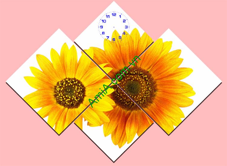 tranh bong hoa huong duong ghep bo