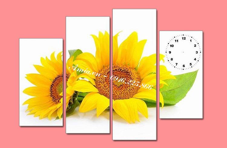 tranh hoa huong duong dep treo phong khach