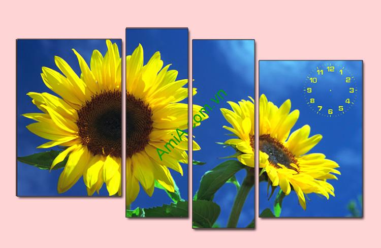 tranh hoa huong duong don nang mat troi
