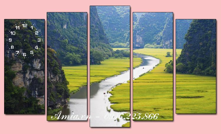 tranh phong canh song nui viet nam