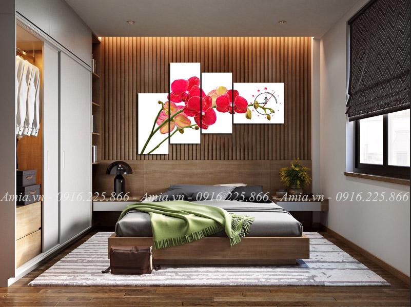 tranh treo phong ngu cho nguoi tuoi mao hoa lan