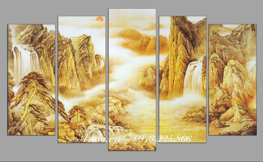 tranh phong thuy phong canh song nui cho nguoi tuoi ty