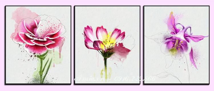 tranh treo tuong phong ngu bong hoa dai