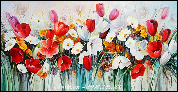 tranh treo tuong hoa mua xuan treo tuong phong ngu