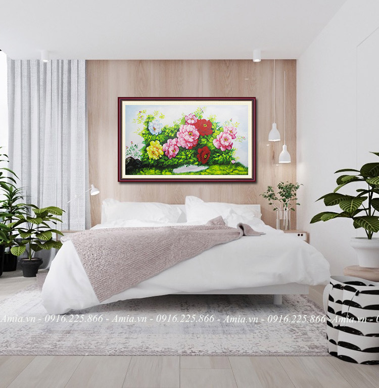tranh phong ngu vo chong hoa mau don