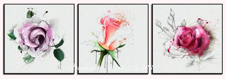 tranh treo tuong hoa hong cho phong dep