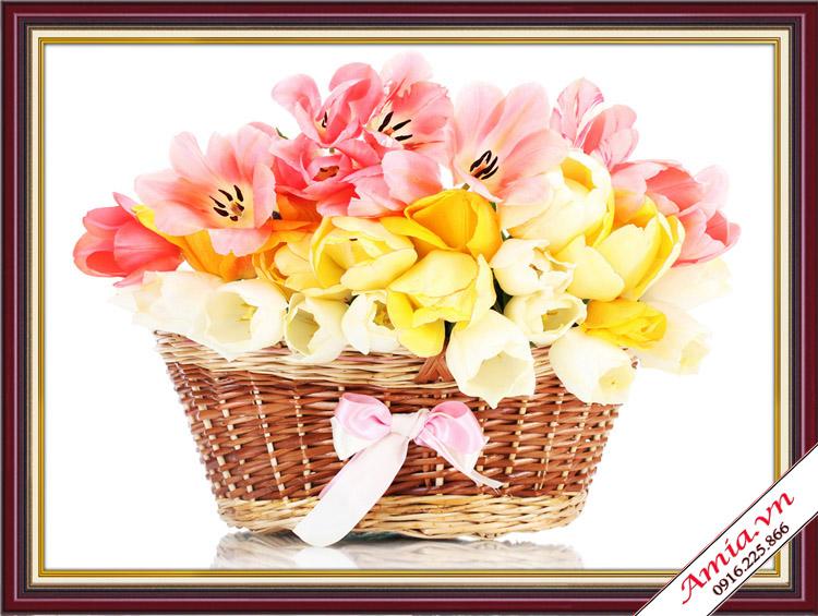 tranh treo tuong gio hoa lam qua tan gia gia re