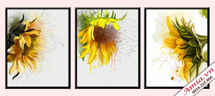 tranh mung tan gia nha moi hoa huong duong bac au