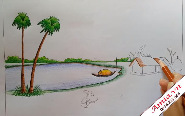 tranh que huong phong canh dep