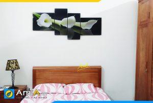 Hình ảnh Bộ tranh hoa Zum treo tường phòng ngủ đẹp phía trên đầu giường AmiA 243