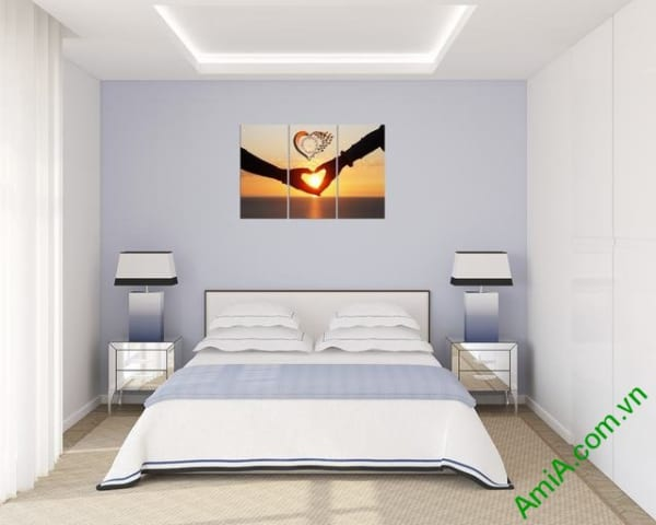 Tranh treo phòng ngủ vợ chồng mới cưới đẹp và lãng mạn