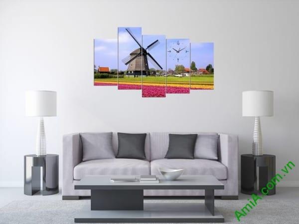 Hình ảnh mẫu tranh ghép bộ hiện đại cối xay gió