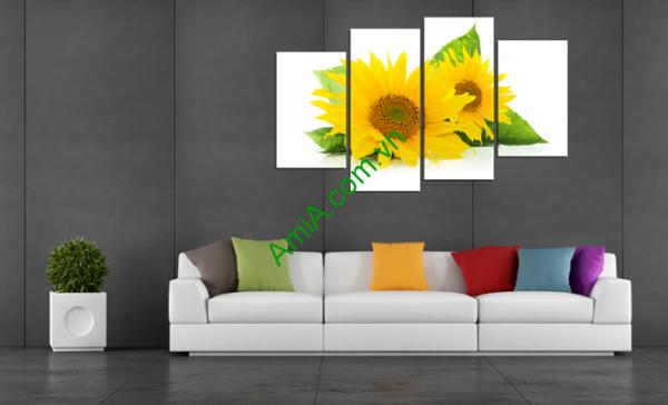 Hình ảnh mẫu tranh hoa hướng dương