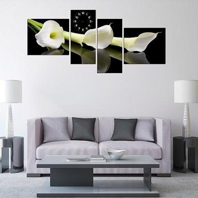 Tranh hoa zum là dòng tranh hiện đại rất hợp treo trang trí phòng khách