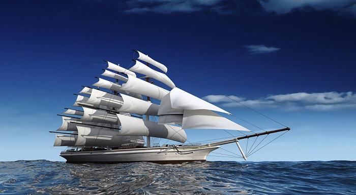 Tranh thuận buồm xuôi gió kiểu tranh 1 tấm khổ lớn 1m x 2m