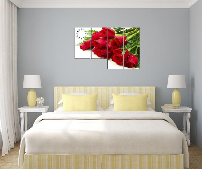 Hình ảnh mẫu tranh hoa hồng đỏ