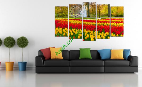 Hình ảnh mẫu tranh phong cảnh ghép bộ AmiA 220