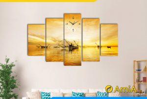 Hình ảnh Bộ tranh phong cảnh vó bè sông nước đẹp AmiA 382