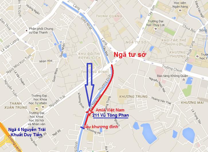Bản đồ chỉ đường đến Siêu thị tranh AMiA