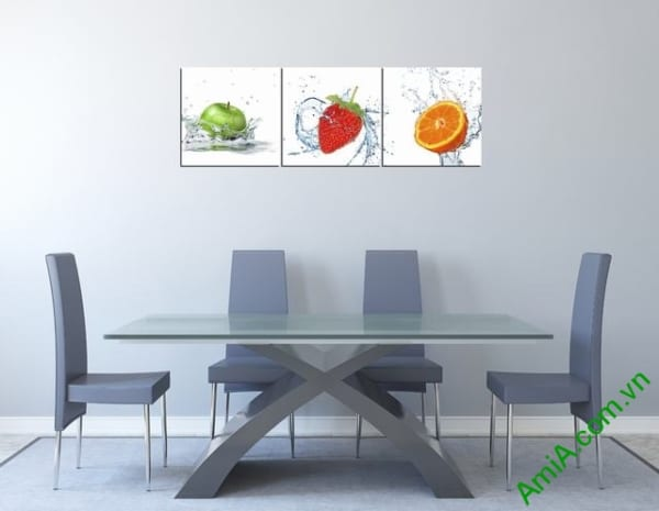 Mẫu tranh đẹp treo tường phòng ăn nhà bếp