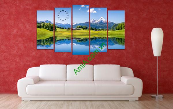 Tranh phong cảnh thiên nhiên hợp treo trang trí phòng khách