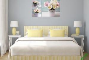 Mẫu tranh đẹp treo phòng ngủ vợ chồng lãng mạn