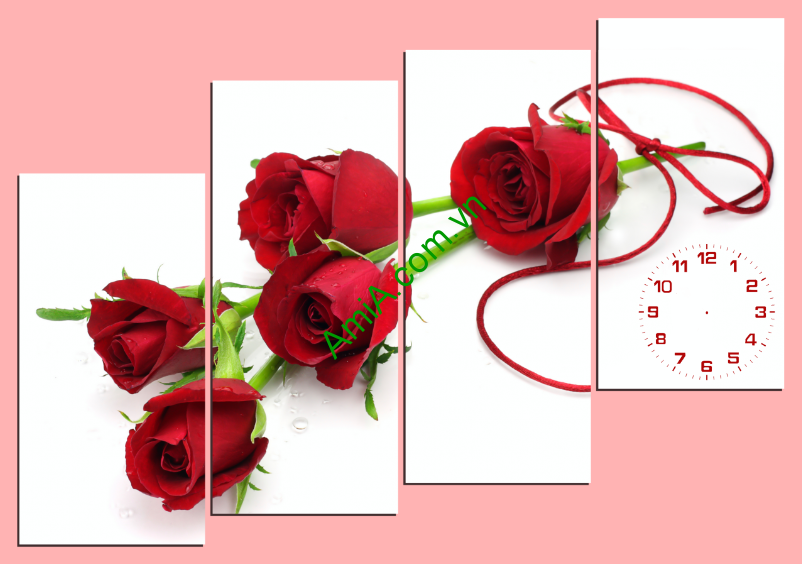 Tranh hoa hồng ghép bộ hiện đại AMiA 155