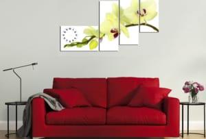 Tranh hoa lan vàng rất hợp treo trang trí phòng khách