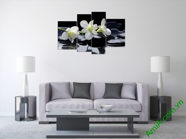 Hình ảnh tranh treo tường hoa lan đẹp