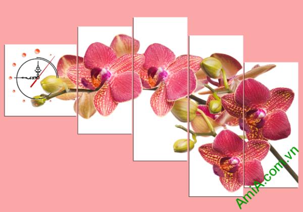 Tranh hoa lan treo phòng khách đẹp