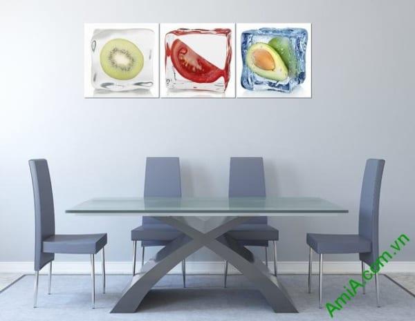 Tranh treo phòng ăn về hoa quả ẩm thực