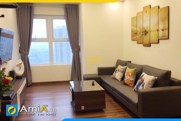 Hình ảnh Tranh phong cảnh sông nước treo phòng khách chung cư đẹp AmiA 382