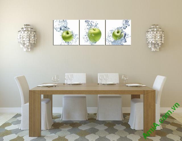 Tranh hoa quả đẹp treo phòng ăn