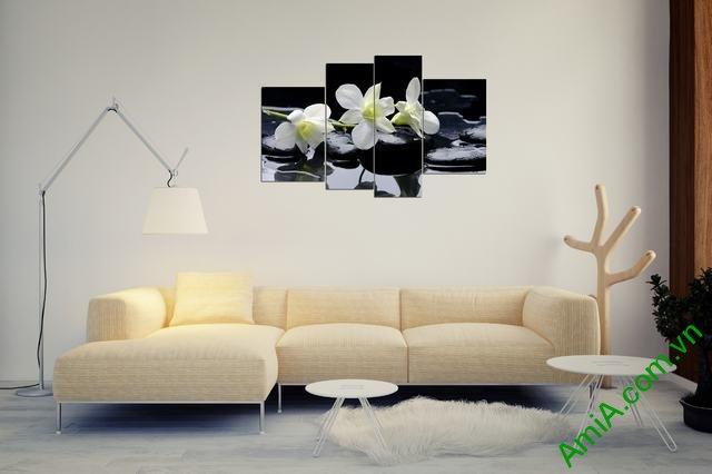 Tranh treo tường hoa lan treo phòng khách đepj