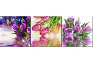 mau tranh treo phong ngu dep hoa tulip hien dai