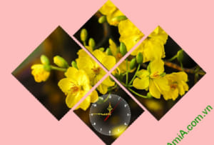 tranh treo phong khach hoa mai vang nghe thuat