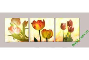 tranh hoa tulip dep