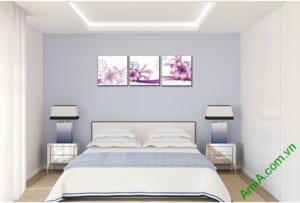 tranh hoa vector trang tri phong ngu hien dai