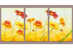 tranh treo phong khach sang trong hoa da quy