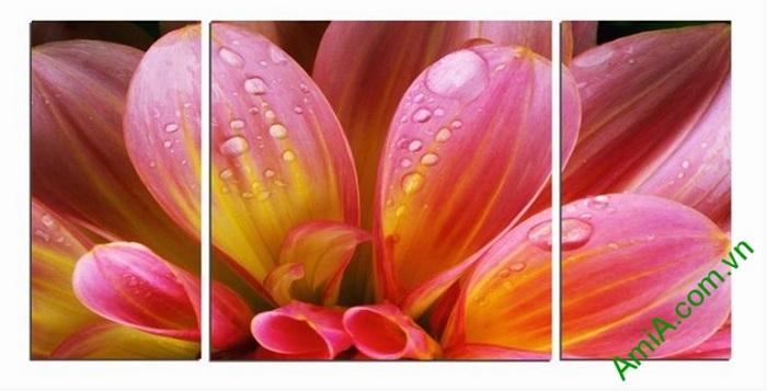 tranh trang tri khach san hoa thuoc duoc tuoi tham
