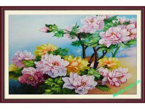 tranh treo tuong hoa mau don