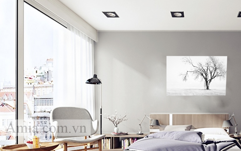 Tranh cây bồ đề trang trí phòng ngủ
