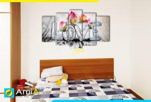 Hình ảnh Tranh treo tường phòng ngủ tình yêu chữ Love đẹp xinh AmiA 981