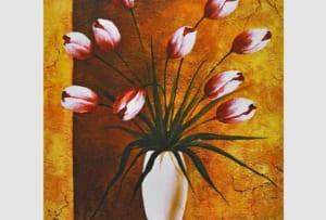 Hinh anh dai dien tranh binh hoa tulip phong cach vintage