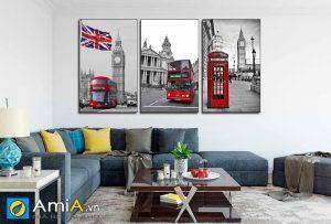 Tranh canvas đẹp phong cảnh châu âu treo tường phòng khách hiện đại, trẻ trung AmiA 4212