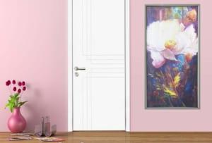 tranh in canvas hoa trà