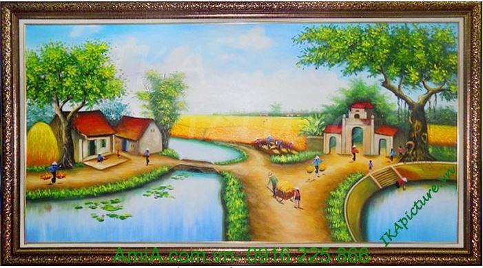 tranh ve phong canh qu huong