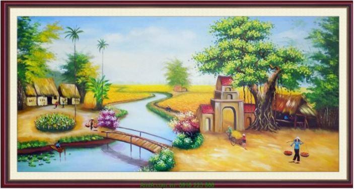 tranh phong canh que huong viet nam