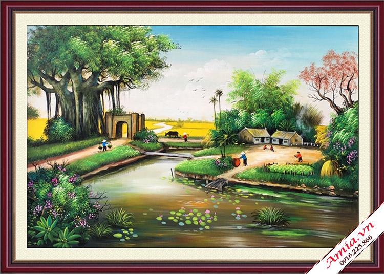 tranh phong canh que huong viet nam lam qua tang tan gia